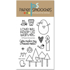 Paper Smooches - Warm Hearts - Clearstamps für scrapbook und cardmaking