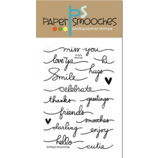 clear stamps paper smooches scripty Sayings für scrapbooking & cardmaking