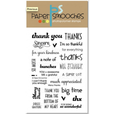 clear stamps Paper Smooches Many Thanks für scrapbooking & cardmaking