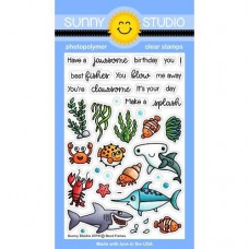 Sunny Studio - Best Fishes - Clear Stamps 4x6