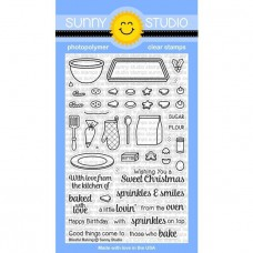 Sunny Studio - Blissful Baking - Clear Stamps 4x6