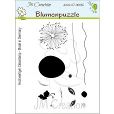 JM Creation - Blumenpuzzle - Clear Stamp