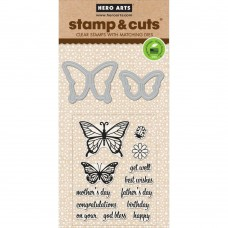 Hero Arts - Butterfly Pair - Stamp & Cuts