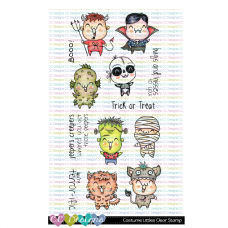 C.C. Designs - Costume Littles - Clear Stamp 4x6