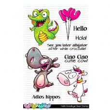 C.C. Designs - Hello Goodbye - Clear Stamp 4x6