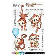 C.C. Designs - Monkey - Clear Stamp 4x6