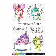 C.C. Designs - Party Unicorns - Clear Stamp 4x6