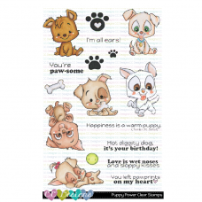 C.C. Designs - Puppy Power - Clear Stamp 4x6