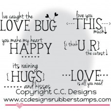 C.C. Designs - Valentine Sentiments (Rubberstamp)