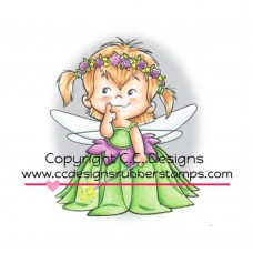 "C.C. Designs Roberto's Rascals Cling Stamp 2.75""X2"" - Fairy Twila"