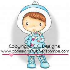 """C.C. Designs Swiss Pixie Cling Stamp 3.3""""X1.7"""" - Winter Kisses Lucy"""