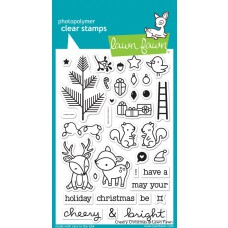 Lawn Fawn - cheery christmas - Clear Stamp 4x6