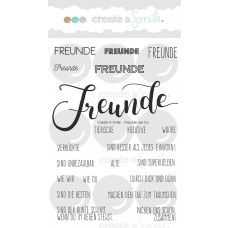 Create A Smile - Freunde Wie Du - Clear Stamps 4x6