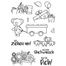 Create A Smile - Wagen Voller Schätze - Clear Stamps 4x6
