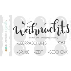 Create A Smile - Weihnachtsüberraschung - Clear Stamps 3x4