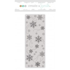 Create A Smile - Snow Flurry - Rubberstamp