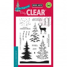 Hero Arts - Color Layering Snowy Tree Clear Stamp 4x6