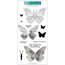 Concorde & 9th - Butterfly - Clear Stamps 4x8