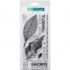 Concorde & 9th - Lace Leaf - Clear Stamps 4x8
