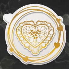 Couture Creations - Cut, Foil & Emboss Die - Nesting Lace Heart