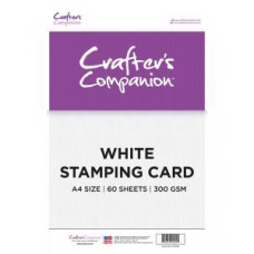 Crafters Companion - A4 White Stamping Card