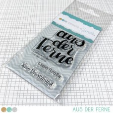 Create A Smile - aus der Ferne - Clear Stamps 2x3