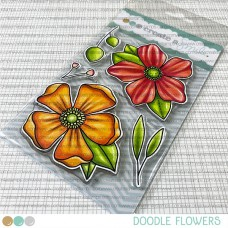 Create A Smile - Doodle Flowers - Clear Stamps 4x6