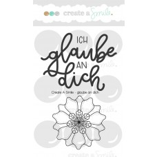 Create A Smile - Glaube An Dich - Clear Stamps 3x4