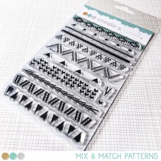 Create A Smile - Mix & Match Patterns - Clear Stamps 4x6