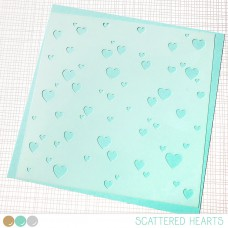 Create A Smile - Schablone - Scattered Hearts
