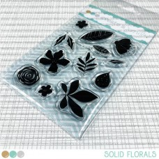 Create A Smile - Solid Florals - Clear Stamps 3x4