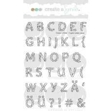 Create A Smile - Stempelset 4x6 - Crystal Letters - Upper