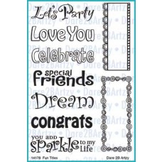 "Dare 2 B Artzy - Stempelset 4x6"" - Fun Titles"