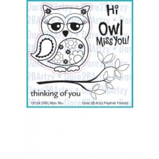 "Dare 2 B Artzy - Stempelset 4x4"" - Owl Miss You"