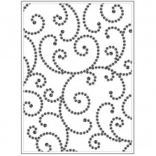 "Darice - Background Embossing Folder 4.25""x5.75"" - Gem Swirl"