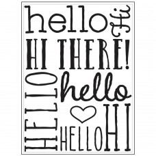 "Darice - Background Embossing Folder 4.25""x5.75"" - Hello Background"