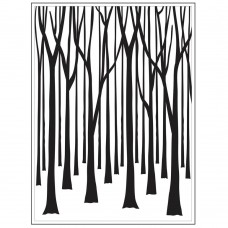"Darice - Background Embossing Folder 4.25""x5.75"" - Tree Trunks"