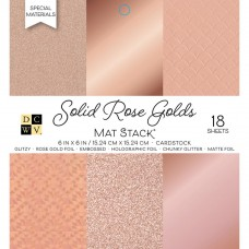 DCWV - Mat Stack - Solid Rose Golds