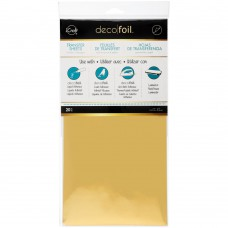 Deco Foil Transfer Sheet 6x12 20Pkg Gold