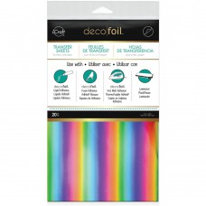 Deco Foil Transfer Sheet 6x12 20Pkg Rainbow
