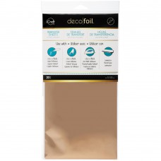 Deco Foil Transfer Sheet 6x12 20Pkg Rose Gold
