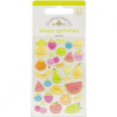Doodlebug Sticker Shape Sprinkles Fun Fruit