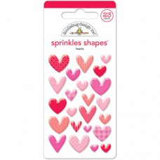 Doodlebug Sticker Shape Sprinkles Hearts