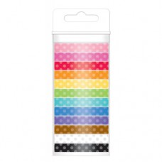 Doodlebug Washi Tape Dot Assortment 12 Rollen mit 12 Yards