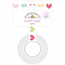 Doodlebug Washi Tape My Love (Rolle mit 12 Yards)