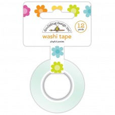Doodlebug Washi Tape Playful Posies (Rolle mit 12 Yards)