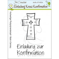 JM Creation - Einladung zur Konfirmation - Kreuz - Clear Stamp