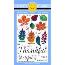 Sunny Studio - Elegant Leaves - Clear Stamps 4x6