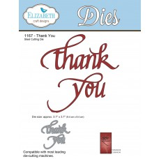 Elizabeth Craft Designs - A Way With Words, Thank You