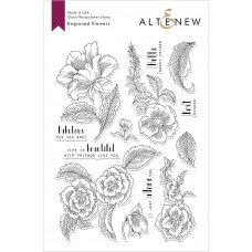 Altenew - Engraved Flowers - Clear Stamp 6x8